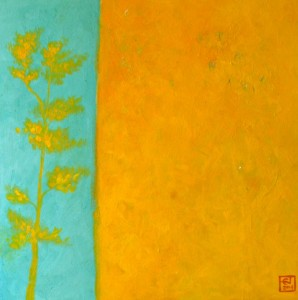 Yellow Forest 24x24 inches acrylic on panel